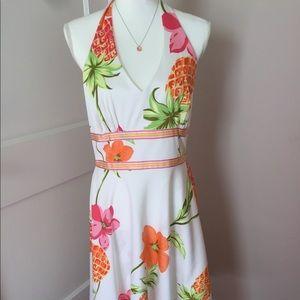 Donna Ricco Tropical Halter Dress Size 10